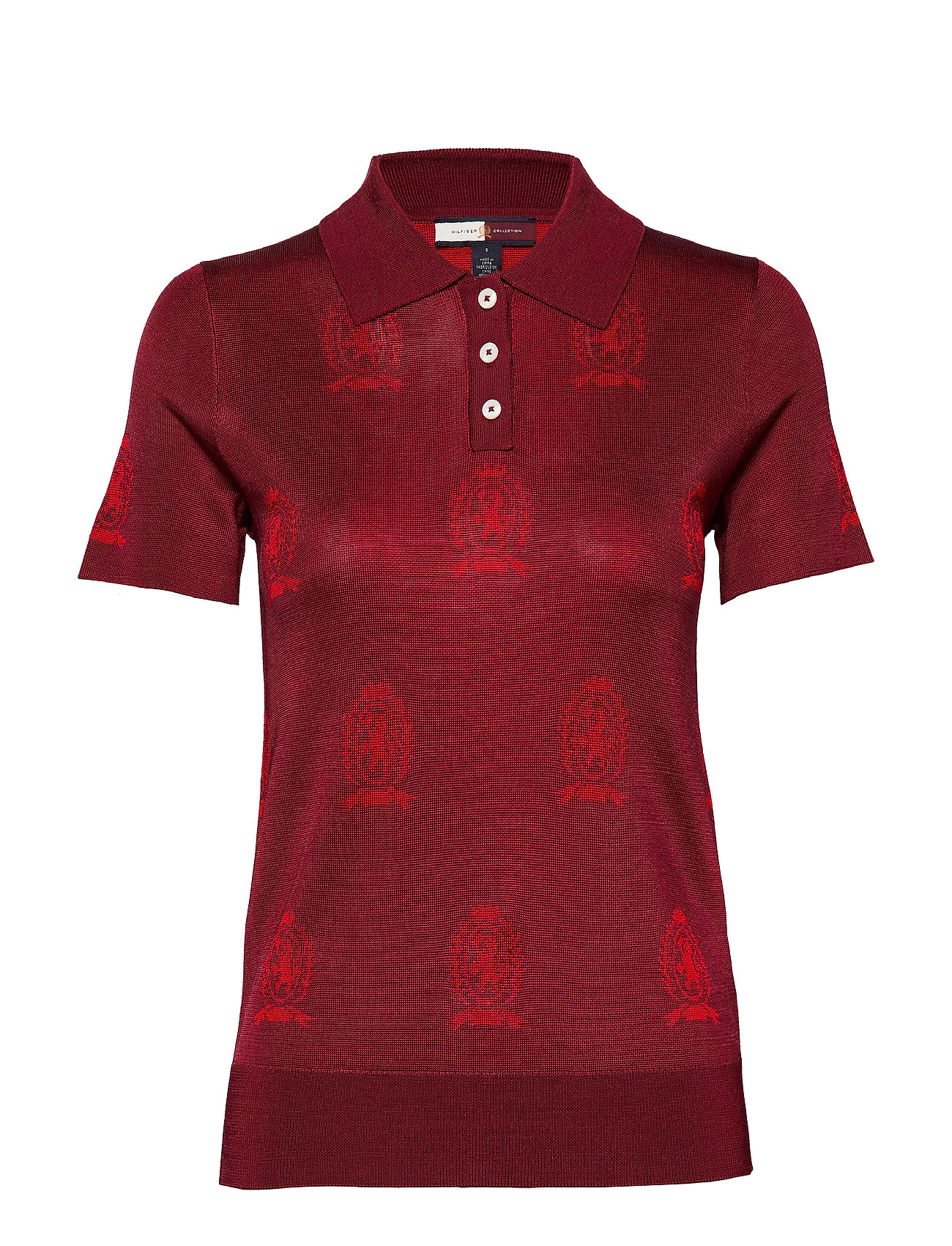 Hilfiger Collection HCW MONOGRAM POLO SH - TRUE RED