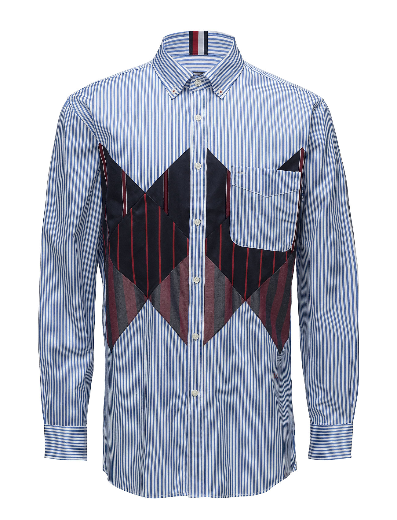 Hilfiger Collection HCM PATCH ARGYLE SHIRT - REGATTA / BW / MULTI