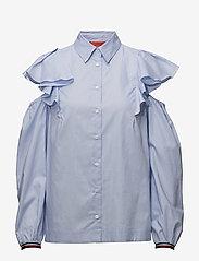 Hilfiger Collection - FEMININE SHIRT LS - long sleeved blouses - heather - 0