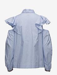 Hilfiger Collection - FEMININE SHIRT LS - long sleeved blouses - heather - 1
