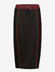Hilfiger Collection - JERSEY MIDI SKIRT - midi skirts - dark grey heather - 0