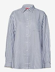 Hilfiger Collection - ICONIC TOMMY STRIPE SHIRT LS - langærmede skjorter - forever blue / multi - 0