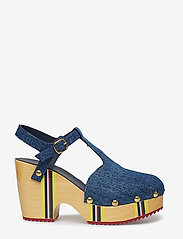 Hilfiger Collection - THC CLOG SANDAL - heeled sandals - denim - 1