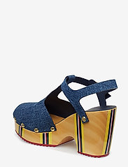 Hilfiger Collection - THC CLOG SANDAL - heeled sandals - denim - 2