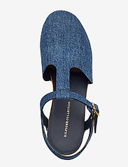 Hilfiger Collection - THC CLOG SANDAL - heeled sandals - denim - 3