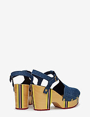 Hilfiger Collection - THC CLOG SANDAL - heeled sandals - denim - 4