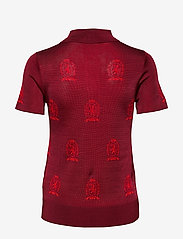 Hilfiger Collection - HCW MONOGRAM POLO SH - pikeepaidat - true red - 1
