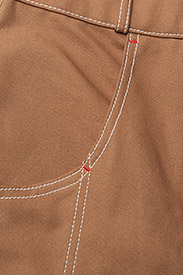 Hilfiger Collection - COTTON WORKWEAR  PAN - slim fit trousers - tobacco brown - 2