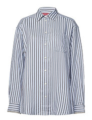 ICONIC TOMMY STRIPE SHIRT LS - FOREVER BLUE / MULTI