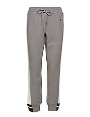 CABLE KNIT STRIPE TRACK PANT - GREY MARL / MULTI