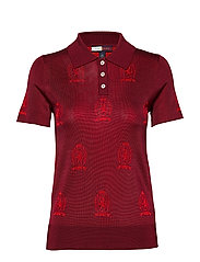 HCW MONOGRAM POLO SH - TRUE RED