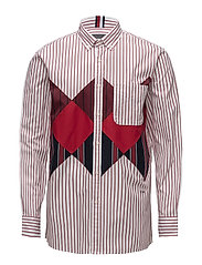 HCM PATCH ARGYLE SHIRT - BARBADOS CHERRY / BW / MULTI