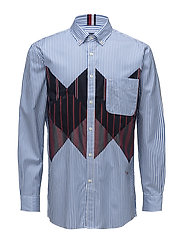 HCM PATCH ARGYLE SHIRT - REGATTA / BW / MULTI