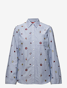 CRITTER WOVEN OXFORD - long-sleeved shirts - oxford blue