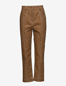 COTTON WORKWEAR  PAN - slim fit bukser - tobacco brown