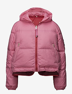MULTI COLOUR DOUBLE DOWN COAT - padded jackets - azalea pink