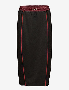 JERSEY MIDI SKIRT - midi skirts - dark grey heather