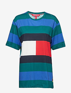 RUGBY STP T-SHIRT SS - BAYBERRY / MULTI