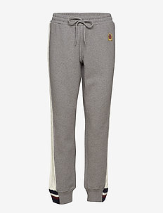 CABLE KNIT STRIPE TRACK PANT - joggings - grey marl / multi