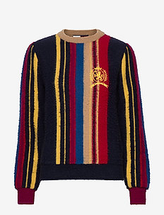 HCW STRIPE SWEATER, - jumpers - blue stripe / multi