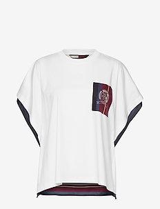 HCW FOULARD TSHIRT, - t-shirts - foulard print