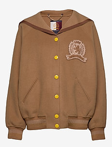 HCW CREST VARSITY JA - bomber jackets - camel