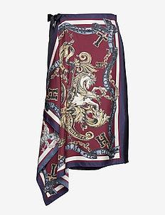 HCW FOULARD WRAP SKI - midinederdele - foulard print