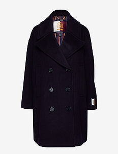 HCW OVERSIZED PEACOA - wool coats - deep well