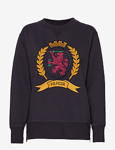 HCW CREST SIDE ZIP S - sweatshirts - deep well
