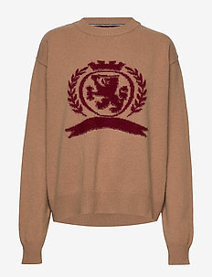 HCW CREST CREW NECK - jumpers - dijon