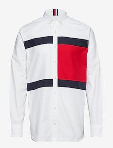 HCM FLAG SHIRT - koszule casual - bw / barbados cherry / sky cap