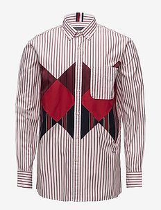 HCM PATCH ARGYLE SHIRT - casual shirts - barbados cherry / bw / multi