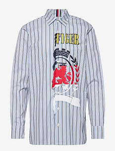 HCM FRAYED SHIRT - casual overhemden - regatta / sky captain / multi