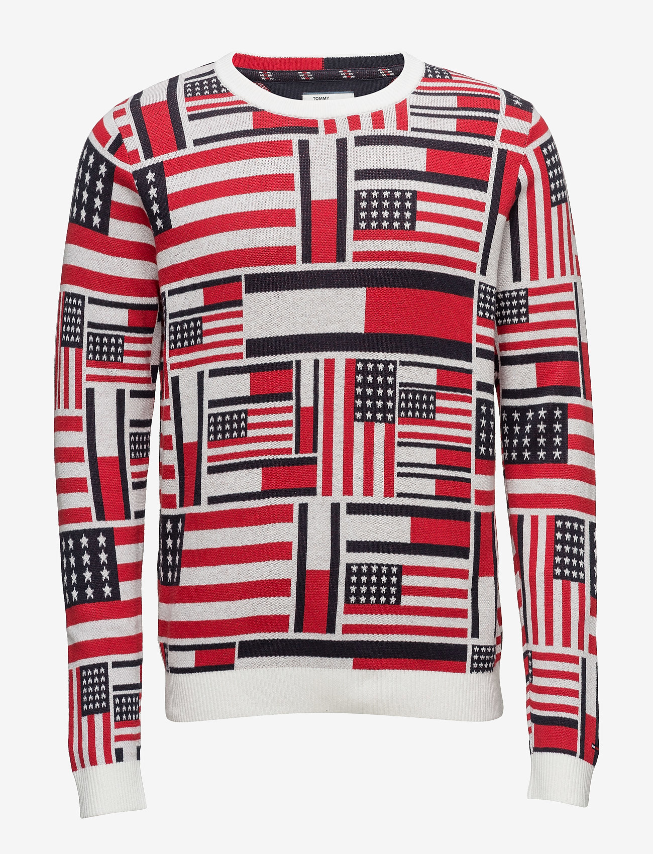 Tommy Jeans - THDM ICONIC CN SWEATER L/S 14 - pulls col rond - marshmallow / multi - 1