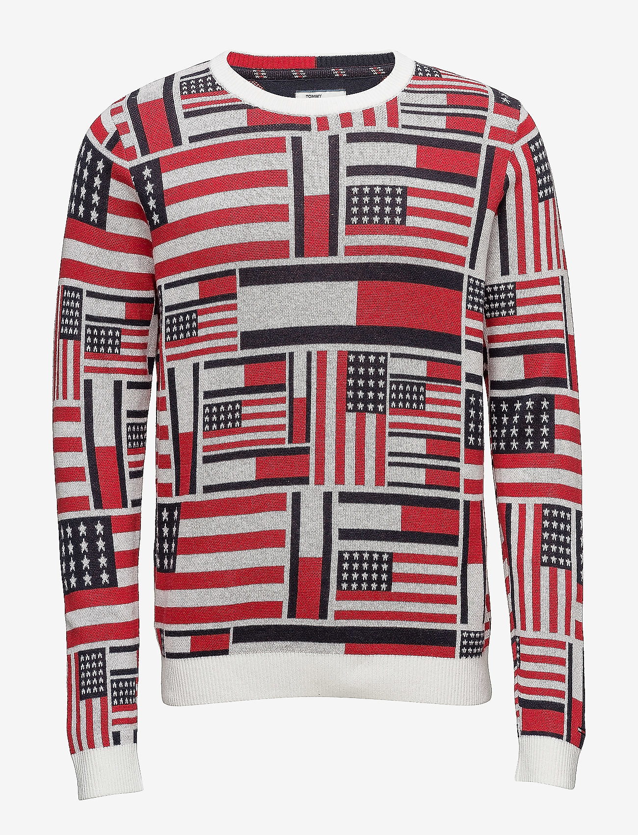 Tommy Jeans - THDM ICONIC CN SWEATER L/S 14 - pulls col rond - marshmallow / multi - 0