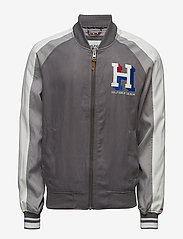 Tommy Jeans - THDM VARSITY BOMBER 43 - bomber jackets - smoked pearl / multi - 0