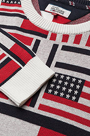 Tommy Jeans - THDM ICONIC CN SWEATER L/S 14 - pulls col rond - marshmallow / multi - 4