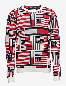 THDM ICONIC CN SWEATER L/S 14 - pulls col rond - marshmallow / multi