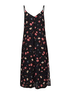 THDW LONG STRAPPY DRESS 26 - FLORAL PRINT LARGE