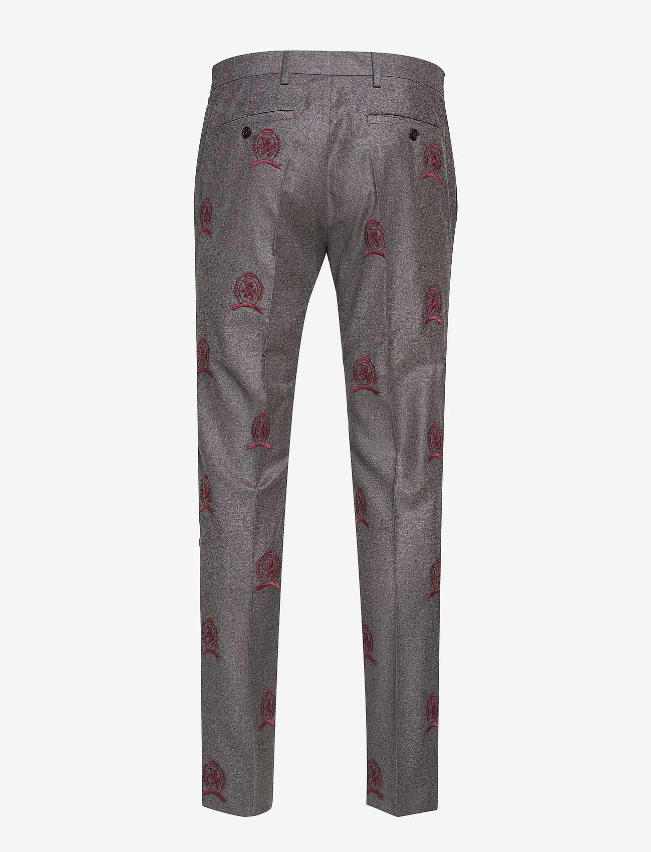 Hilfiger Collection Hcm Suit Sep Pants Embroidery - Byxor Charcoal Heather