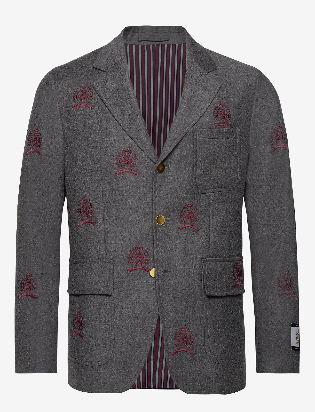 Hilfiger Collection - HCM SUIT SEP BLAZER EMBROIDERY - costumes simple boutonnage - charcoal heather - 0