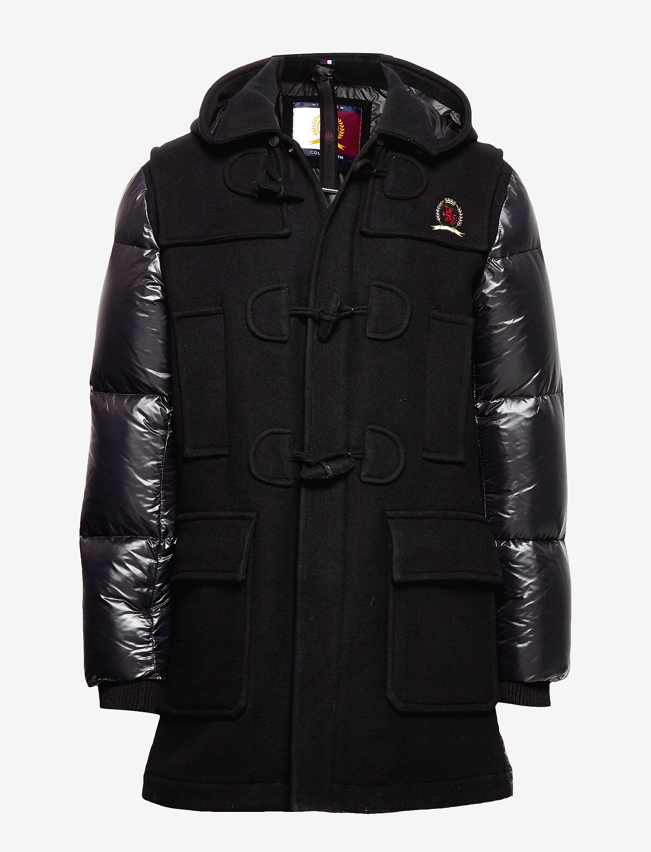 Hilfiger Collection - HCM DOWN SLEEVE DUFFLE COAT - padded jackets - jet black - 0