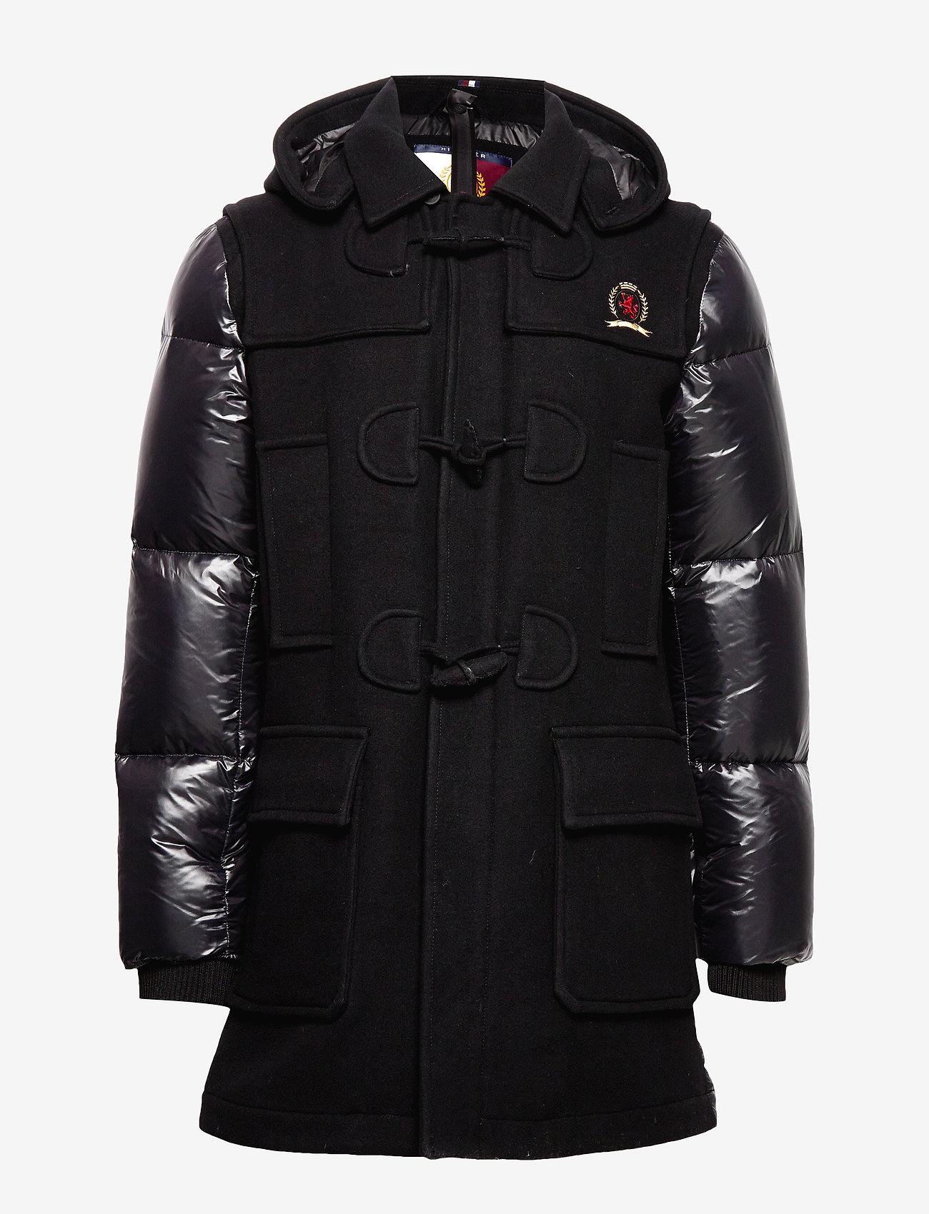 Hilfiger Collection - HCM DOWN SLEEVE DUFFLE COAT - padded jackets - jet black - 1