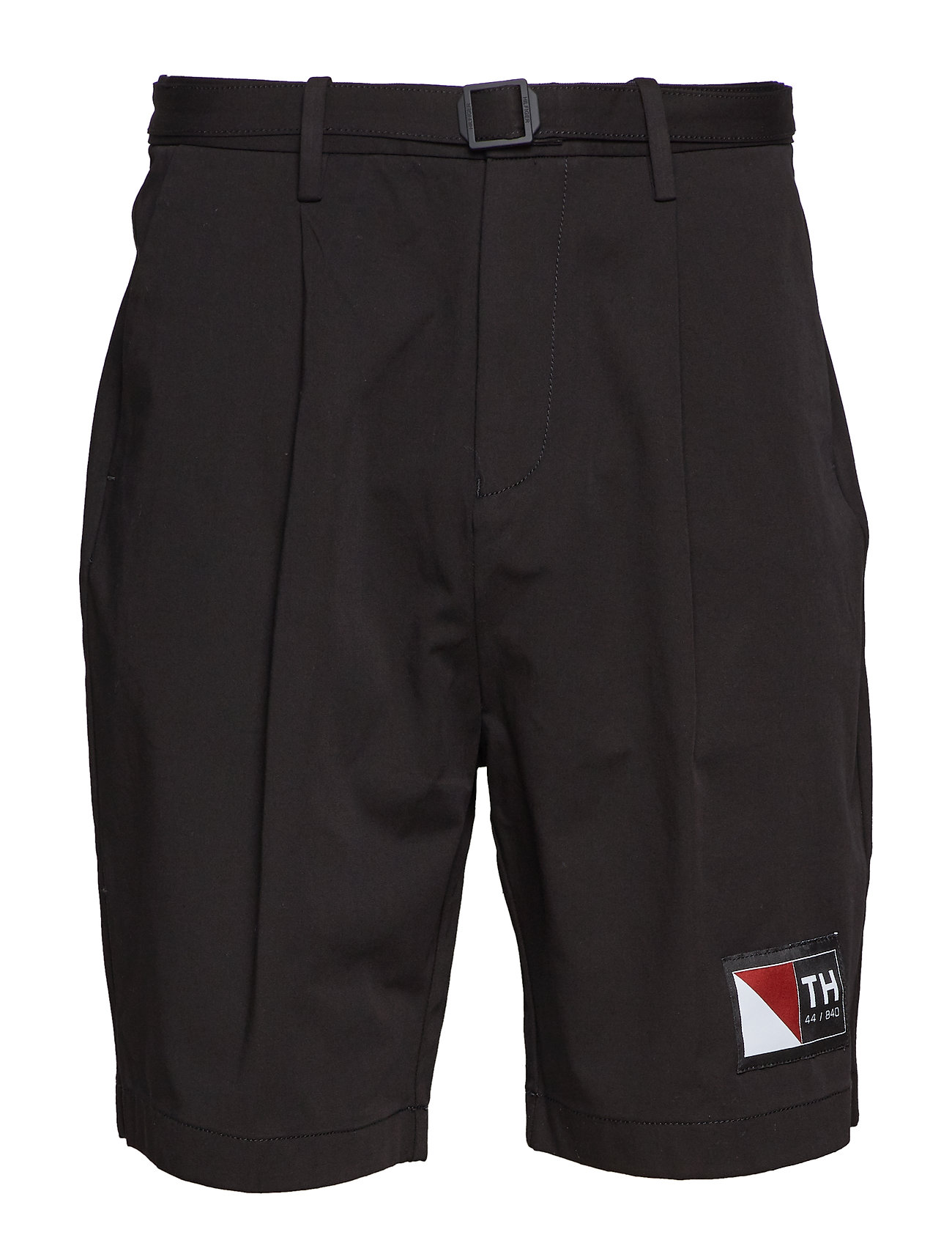 Hilfiger Collection SOLID PLEATED SHORTS - JET BLACK