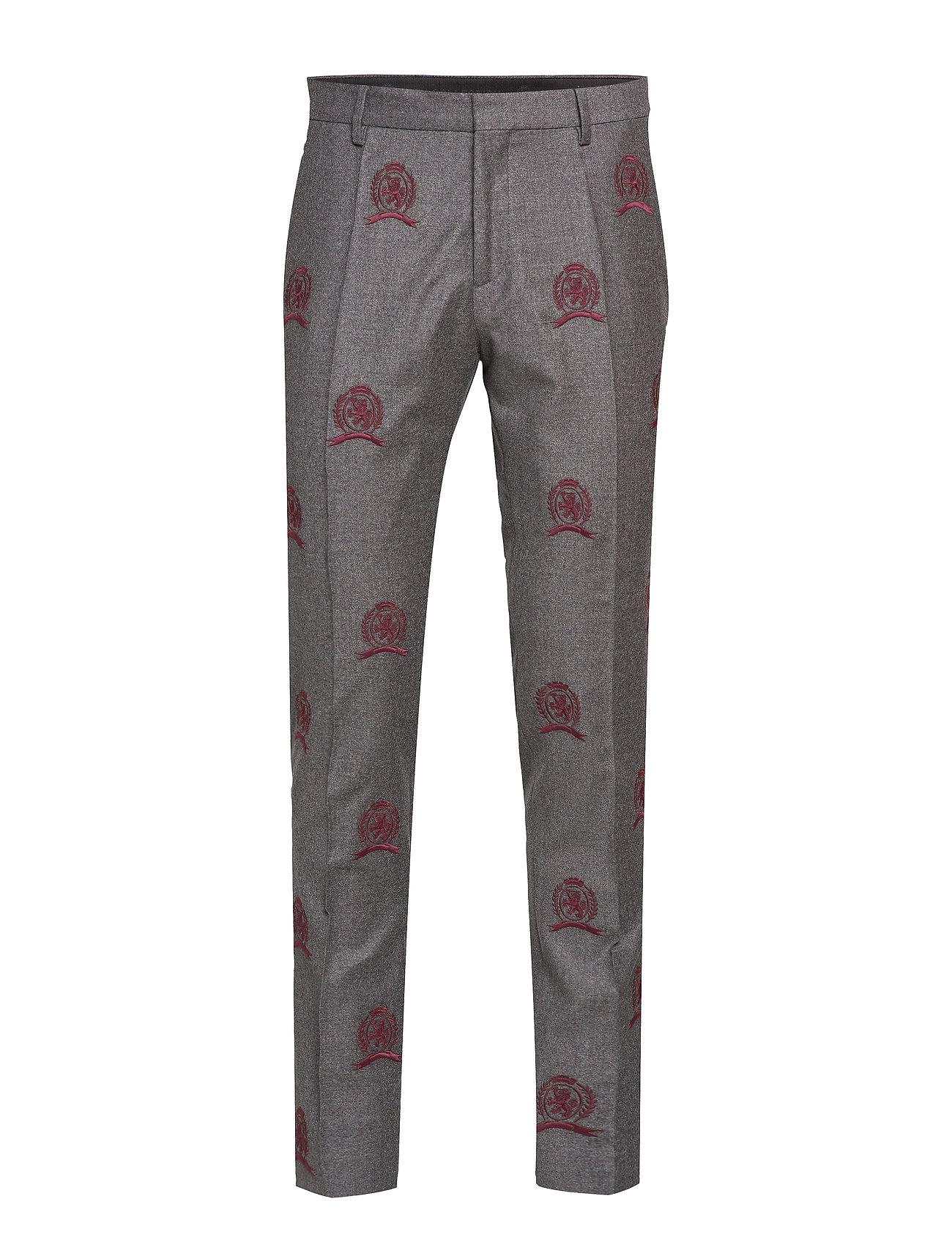 Image of Hcm Suit Sep Pants Embroidery Habitbukser Stylede Bukser Grå Hilfiger Collection (3406228327)
