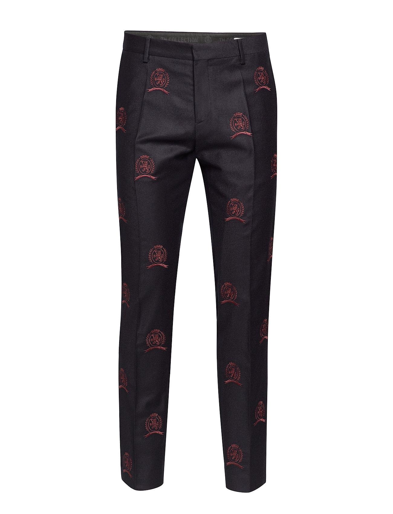 Image of Hcm Suit Sep Pants Embroidery Habitbukser Stylede Bukser Blå Hilfiger Collection (3406228331)
