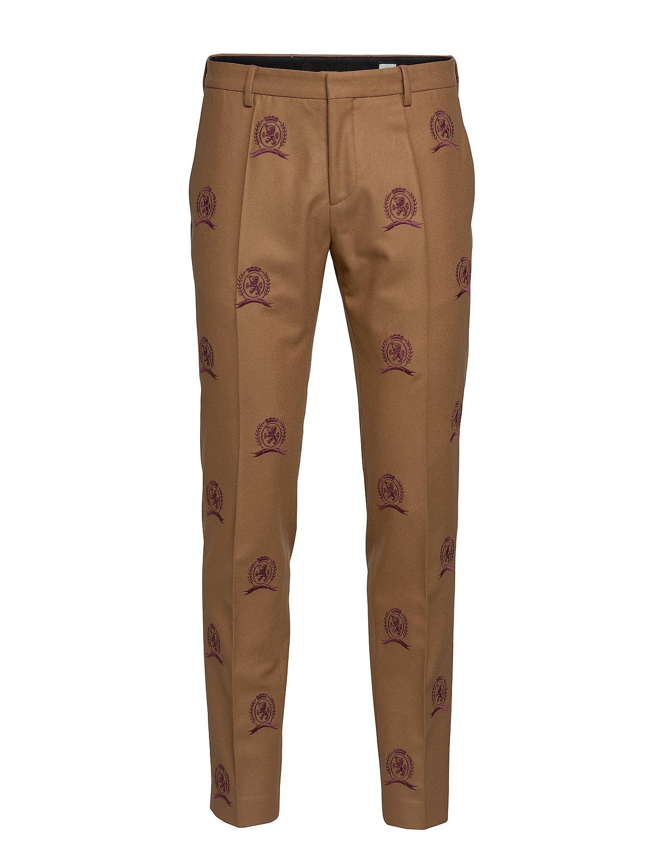 Image of Hcm Suit Sep Pants Embroidery Habitbukser Stylede Bukser Beige Hilfiger Collection (3236598909)