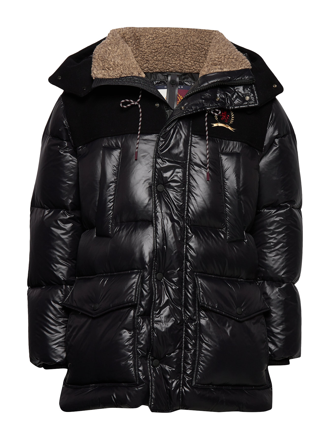 Hilfiger Collection HCM WOOL NYLON DOWN TECH PARKA - JET BLACK