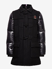 Hilfiger Collection - HCM DOWN SLEEVE DUFFLE COAT - padded jackets - jet black - 2
