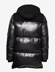 Hilfiger Collection - HCM DOWN SLEEVE DUFFLE COAT - padded jackets - jet black - 3